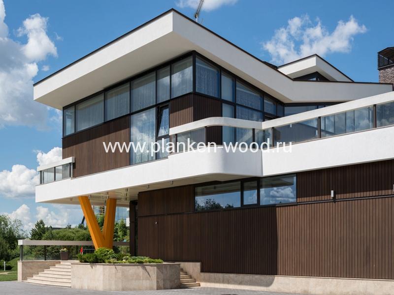 тиковая доска для отделки фасада дома